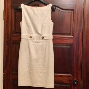 Milly White Open back Cocktail Dress